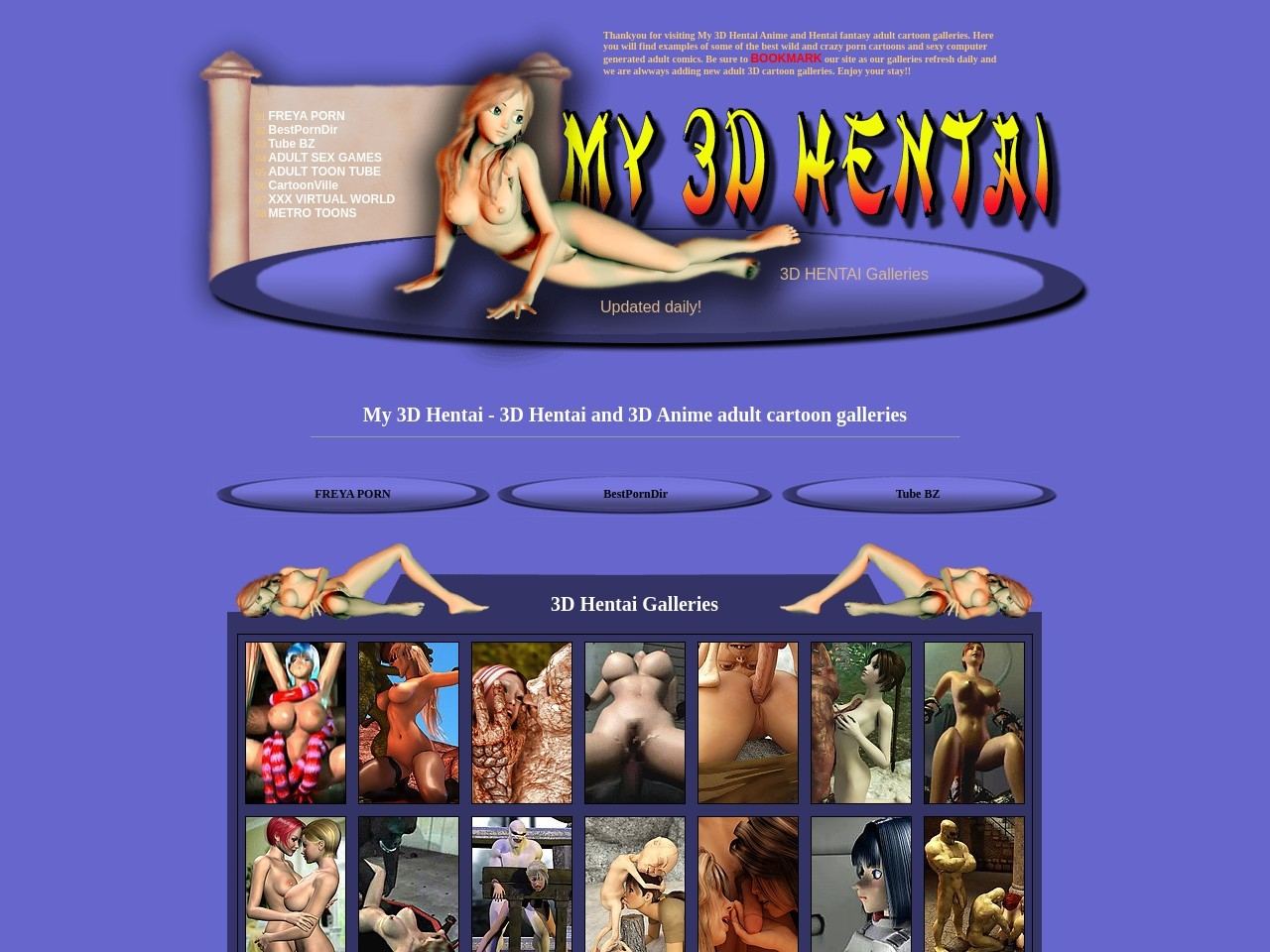 My 3D Hentai - 3D Anime and 3D Hentai adult cartoon porn galleries