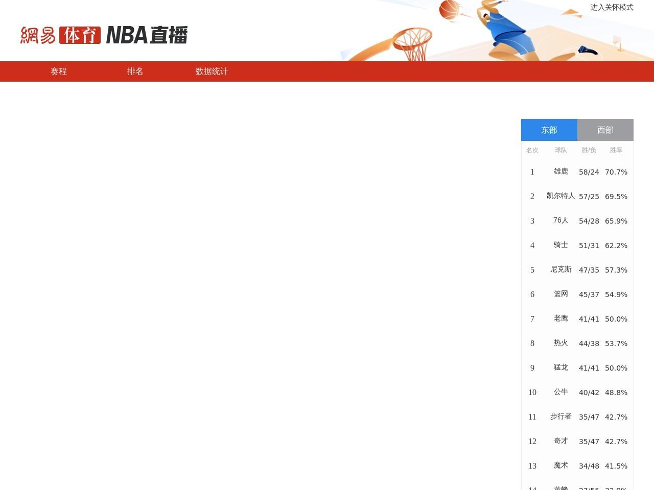 网易NBA直播系统