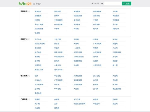 news.hao123.com的网站截图