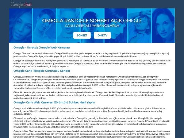 omegla.online website screenshot Omegla - Omegle Bedava Buluşma Sohbeti