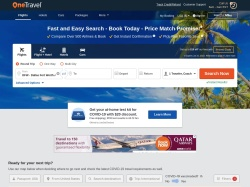 OneTravel promo code and other discount voucher