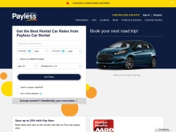 Payless Car Rental promo code and other discount voucher
