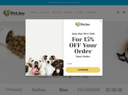Pet Joy  promo code and other discount voucher
