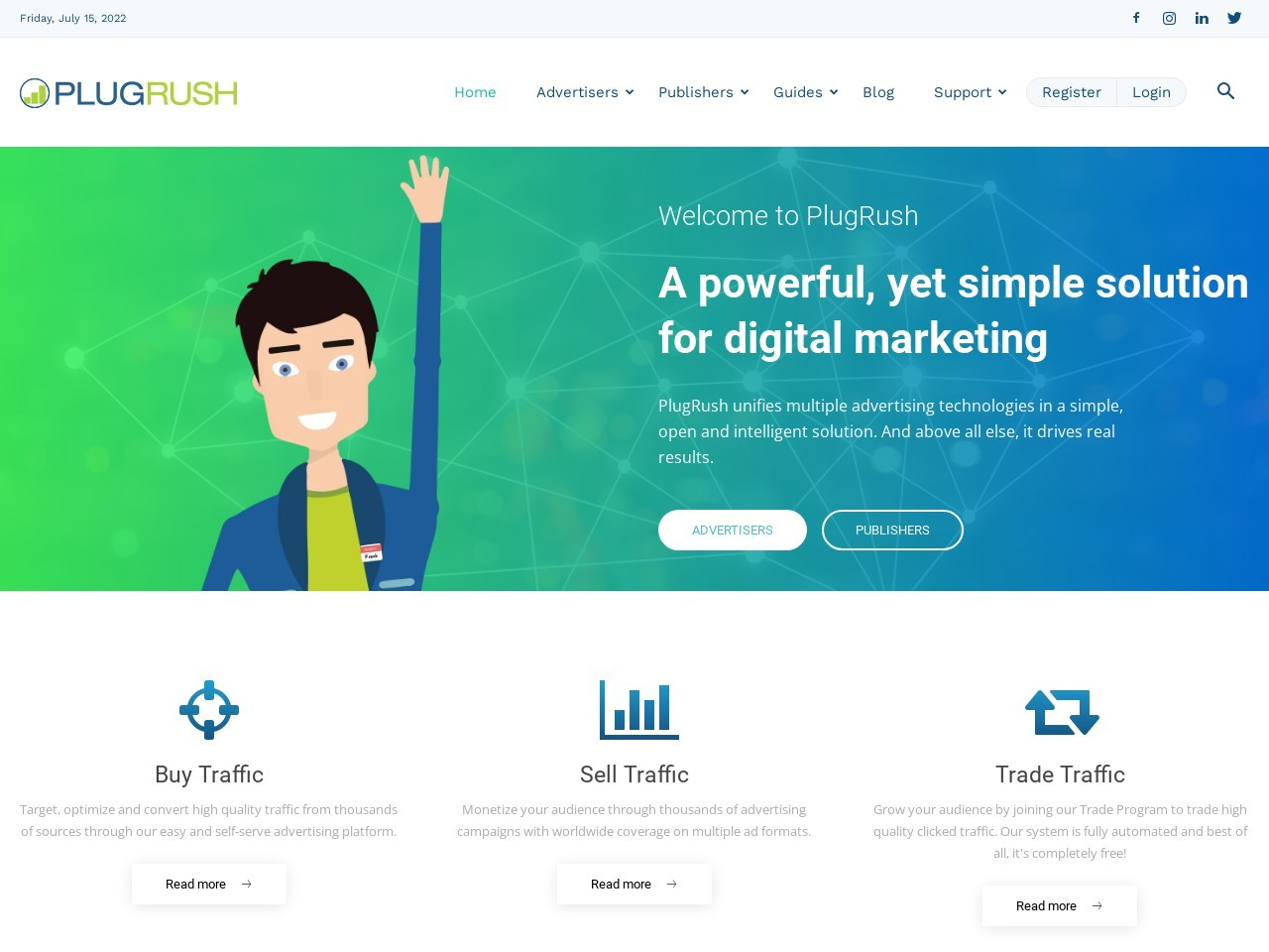 PlugRush Advertising Network