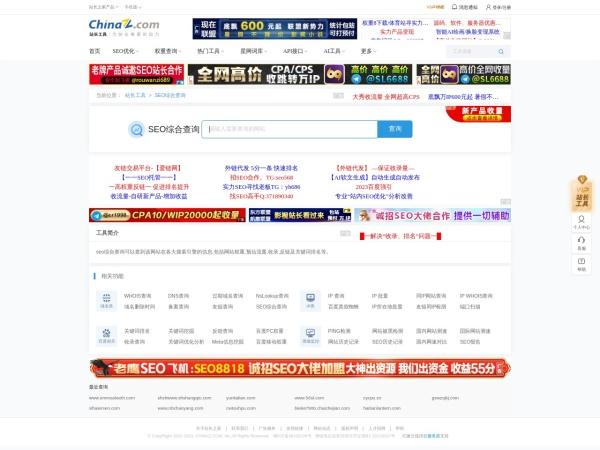 seo.chinaz.com的网站截图