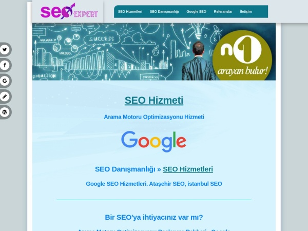 seohizmeti.web.tr website screenshot Kurumsal SEO Hizmeti, SEO Hizmeti, Ataşehir, istanbul
