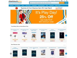 Sheet Music Plus promo code and other discount voucher