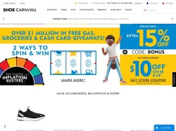 Shoe Carnival promo code and other discount voucher