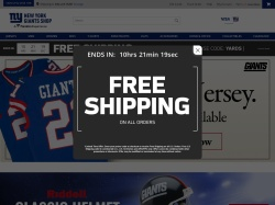 NY Giants Fan Shop promo code and other discount voucher