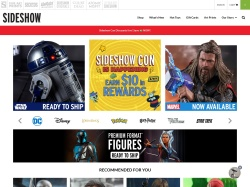 Sideshow Toys promo code and other discount voucher
