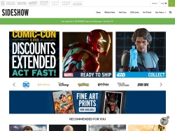 Sideshow Collectibles coupons