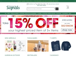Signals promo code and other discount voucher