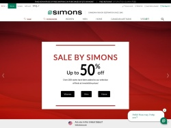 Simons Canada promo code and other discount voucher