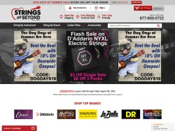 Strings and Beyond promo code and other discount voucher