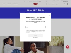 Levi's promo code and other discount voucher