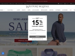 Westport Big & Tall promo code and other discount voucher