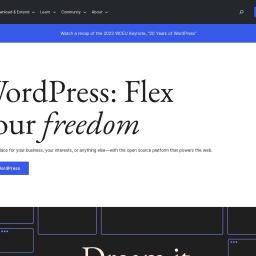 Blog Tool, Publishing Platform, and CMS — WordPress.org
