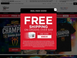 WWE Shop promo code and other discount voucher