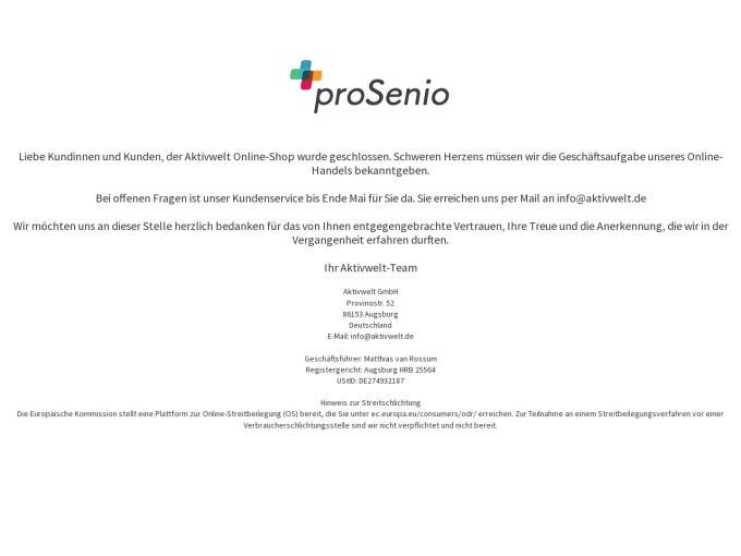 Screenshot des Onlineshops von Aktivwelt