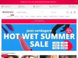 Amorana Homepage Screenshot