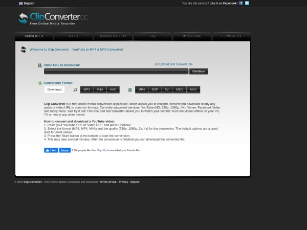 www.clipconverter.cc网站缩略图