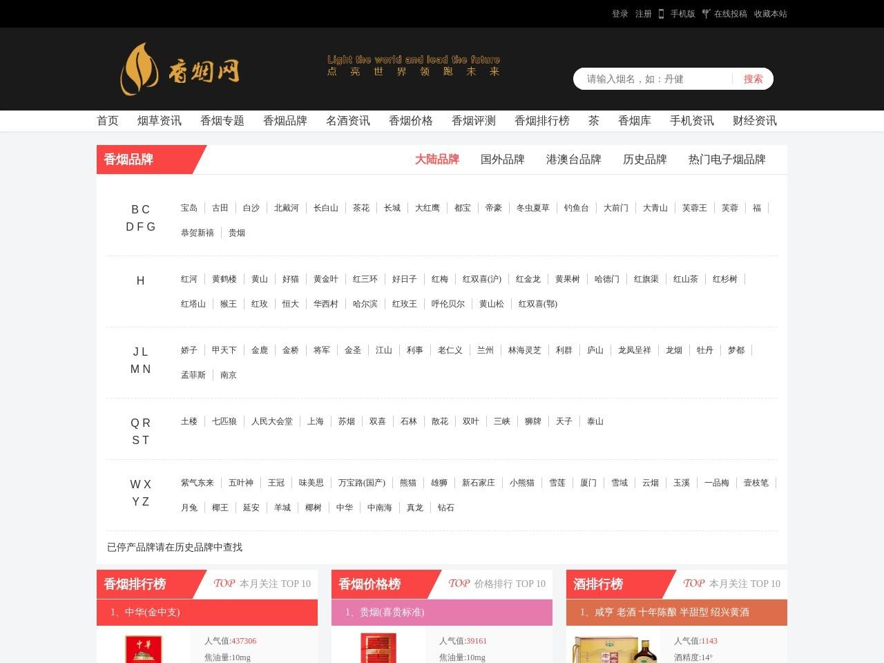 [中国香烟网]-全球香烟品牌价格排行榜!点亮世界领跑未来