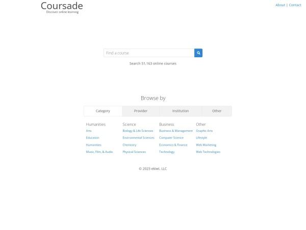 Coursade   公开课检索引擎