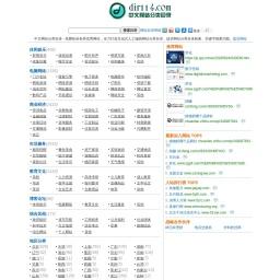 dir114网站分类目录 免费网站目录,中文网址导航