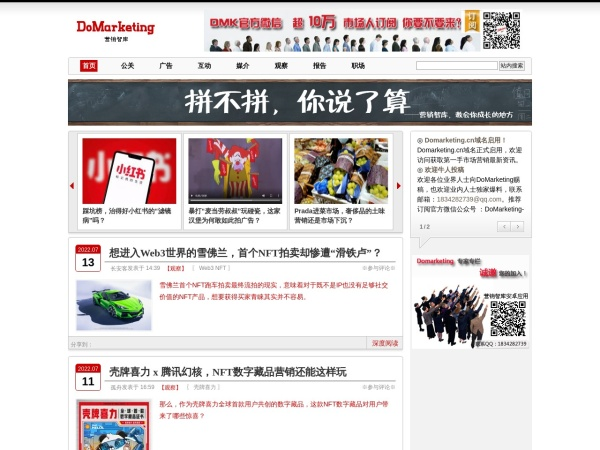 www.domarketing.cn的网站截图