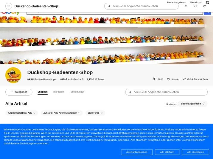 http://www.ebaystores.de/Duckshop-Badeenten-Shop