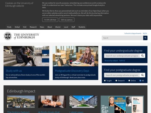 爱丁堡大学官网