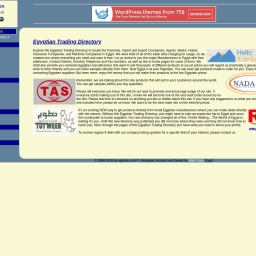 Egyptian Trading Directory... Listing for Egyptian Factories, Import & Export Companies, Banks, Agencies, Shipping....