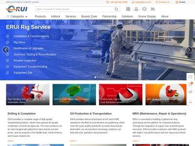 Oilfield Tools & Equipment: Drilling Tools, Rig Parts, PPE Supplies, MRO | ERUI
