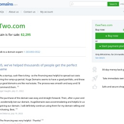 EweTwo.com is for sale | HugeDomains