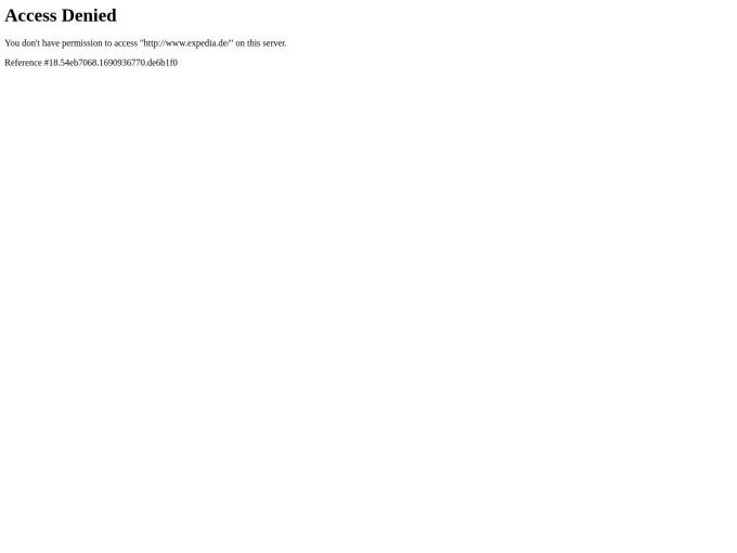 Screenshot des Onlineshops von Expedia