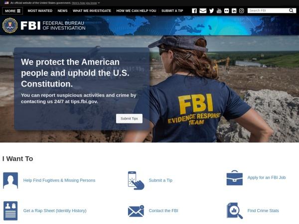 美国联邦调查局官网