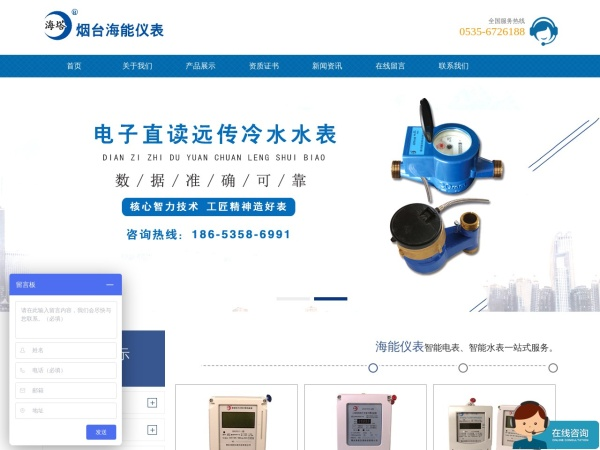 www.hainengyibiao.net的网站截图