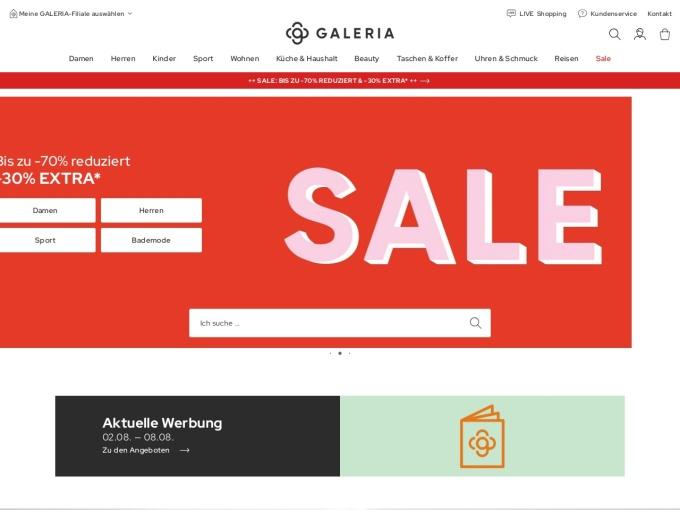 Screenshot des Onlineshops von KARSTADT