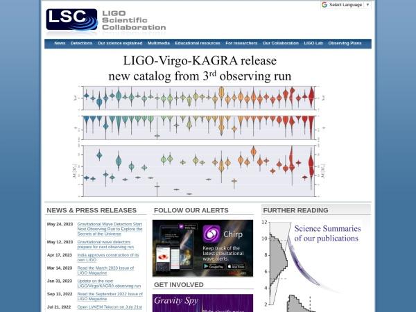 激光干涉引力波天文台_LIGO官网