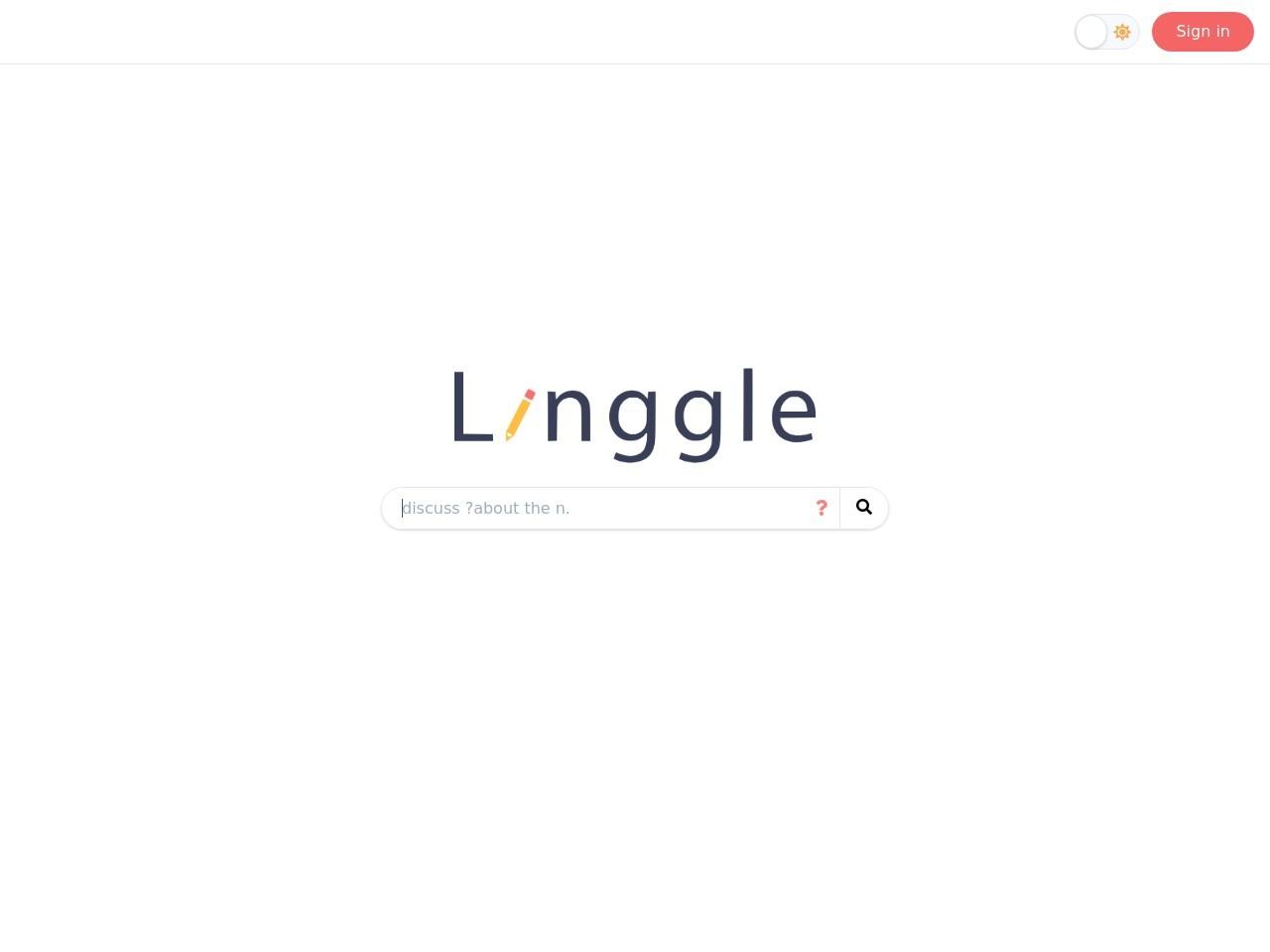 linggle的网站截图