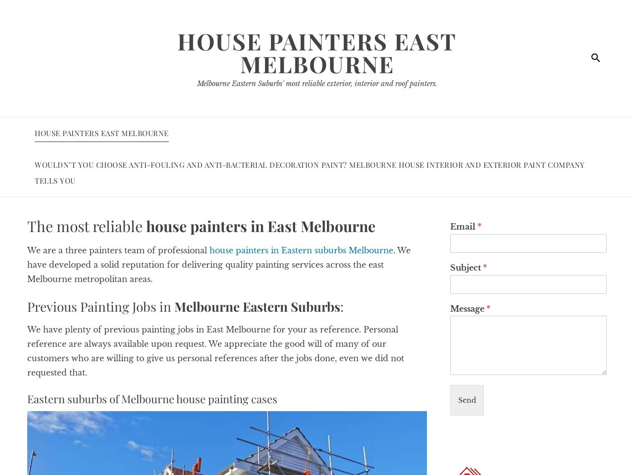 Melbourne Eastern suburbs painters