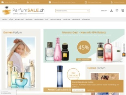 ParfumSALE Homepage Screenshot
