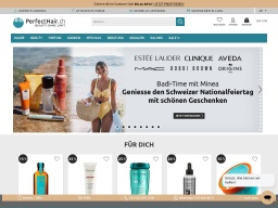 PerfectHair Homepage Screenshot