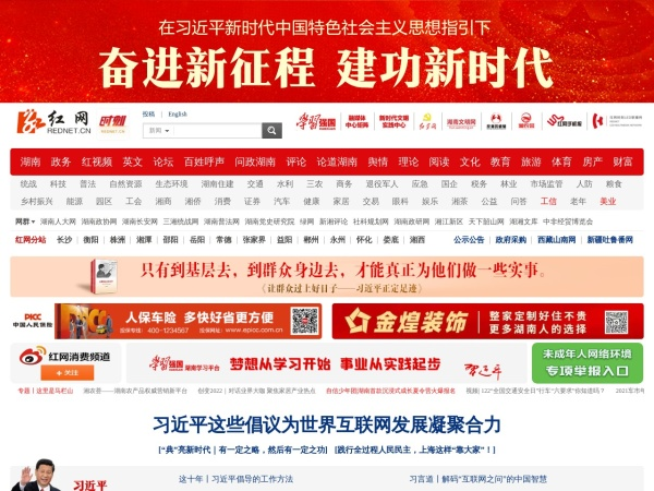 www.rednet.cn的网站截图