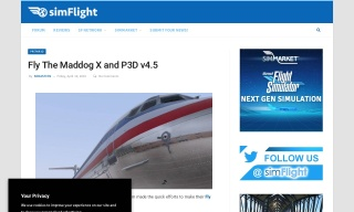 Fly The Maddog X and P3D v4.5