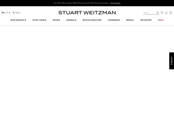 Screenshot des Onlineshops von Stuart Weitzman