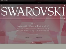 Swarovski Homepage Screenshot