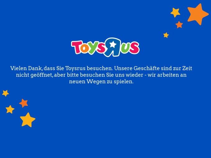 Screenshot des Onlineshops von ToysRus