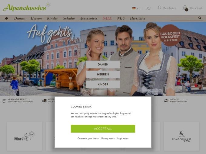 Screenshot des Onlineshops von STOCKERPOINT