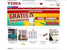 Vedia Homepage Screenshot